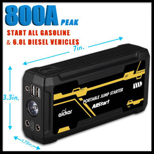 12V Trucks Booster Emergency 16800mAh 800 AMP Peak Current Emergency Power Bank Pack Portable Car Jump Starter Jumpstart pictures & photos