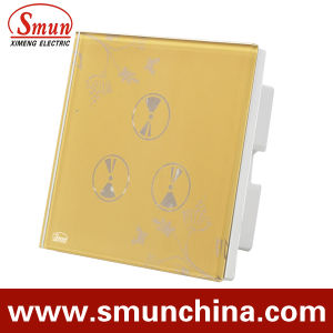 3 Gang Wall Touch Switch, Smart Wall Socket, for Home and Hotel Remote Control Switches pictures & photos