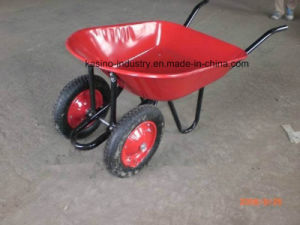 Double Wheels Farm Wheelbarrow/Wheel Barrow/Hand Barrow (wb7200b) pictures & photos