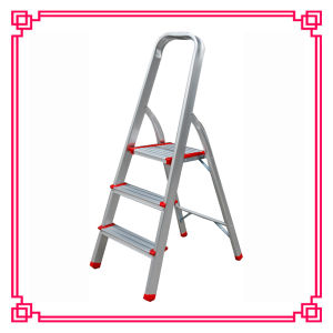 Household Aluminum 3 Steps Ladder/Folding Ladder/Extension Ladder pictures & photos