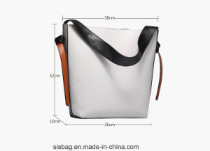 Hot Selling Contrast Color PU Bucket Bag for Lady pictures & photos