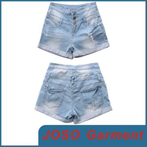 New Style High Waisted Denim Shorts (JC6009) pictures & photos