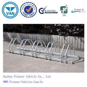 Galvanized Steel Floor-Mounted Bike Stand with Unique Design and Durable Life pictures & photos