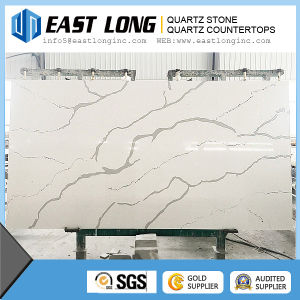 White Artificial Engineering Quartz Stone, Artificial Marble Color Quartz Stone pictures & photos
