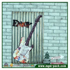 High Quality Handmade Guitar Tin Painting pictures & photos