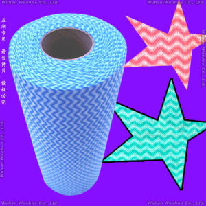 Disposable Kitchen Spunlace Non-Woven Clean-up Rolled Cloth pictures & photos