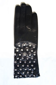 Lady Fashion Leather Gloves (JYG-23020) pictures & photos