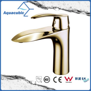 Polished Gold Bathroom Single Brass Faucet pictures & photos