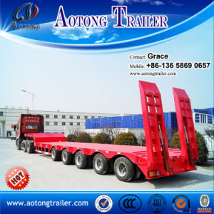 Heavy Duty 3 Axle Low Bed Trailer Lowbed Semi Trailer, 60 Ton to 100 Tons Low Loader Truck Trailer for Sale pictures & photos
