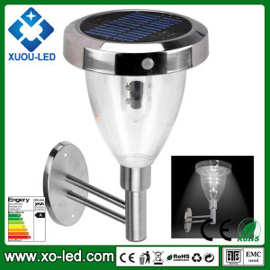 Human Body Induction Wall Mounted Solar Stainless Steel Garden PIR Solar Lamp Light
