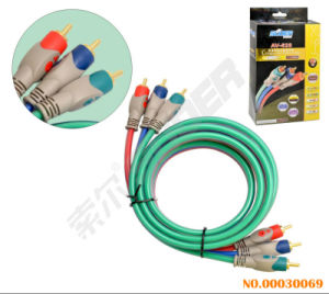 1.8m AV Cable Male to Male 3 RCA to 3 RCA Component Cable Audio Video Cable (AV-628-component cable-1.8M) pictures & photos