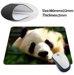 Cool New Design Rubber Mouse Pad with Soft Cloth Top pictures & photos