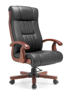 High Back Executive Solid Wood Office Chair Op-A055-2