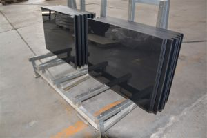 Black Silk Screen Printed Tempered Glass Table Top pictures & photos