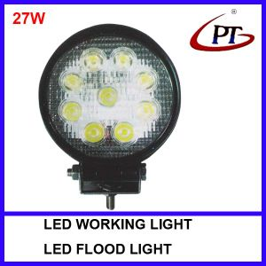 Round Truck Boat ATV LED Work Light 27W