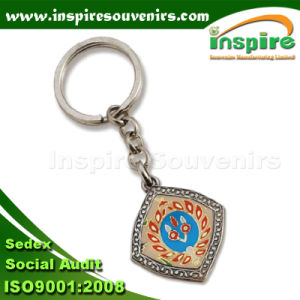 OEM Rectangle Zinc Alloy Souvenir Keychain (SK504) pictures & photos