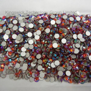 Flatback Crystal Rhinestones in High Quality Lt Siam Ab 5mm pictures & photos