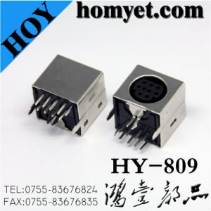 Pin Socket/S-Video with Nine Needles for Wiring Equipment (HY-809) pictures & photos