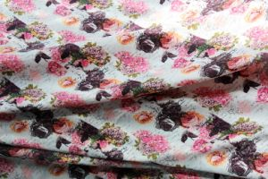 Polyester Chiffon Printed Satin Fabric for Dress