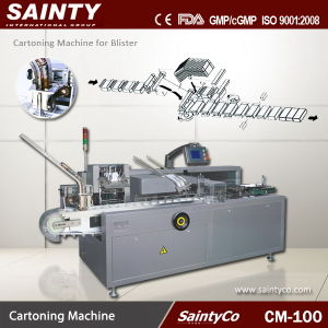 CM-100 CE Approved Chewing Gum Carton Packing Machine
