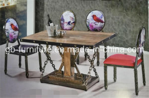 Amercian Industrial Style Restaurant Furniture Table&Chair Set pictures & photos