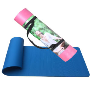 Yoga&Pilate Type Rubber Yoga Mat with Carrying Strap pictures & photos