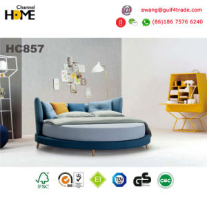 New Elegant Design Round King Bed/Modern Bed/Fabric Bed (HC857) pictures & photos