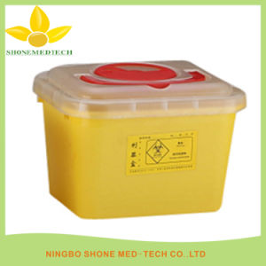 Disposable PP Medical Sharp Container with Handle pictures & photos