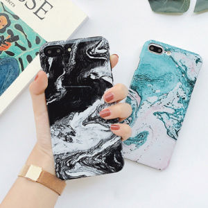 Ultra Slim Watercolor Marble Pattern Soft Phone Case for iPhone pictures & photos