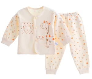 100% Cotton Baby Infant Underwear Set Long Sleeve Pants Clothing pictures & photos