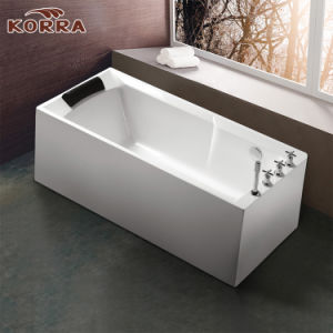 New Style Freestanding Acrylic Massage Bathtub pictures & photos
