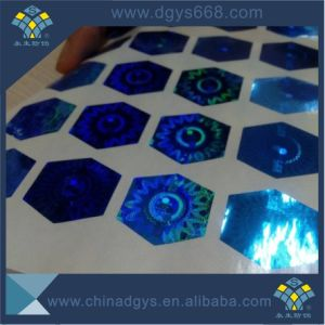 Custom Design Blue Color Hologram Laser Sticker Printing pictures & photos