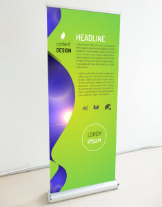 Customized Double Sides Rollup Banner Stand Display (SR-04) pictures & photos