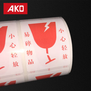 Pre-Printed Thermal Coated Layer White Glassine Liner Self Adhesive Sticker Label Roll pictures & photos