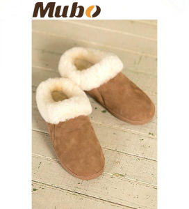 Women′s Emily Sheepskin Slipper Mule Slippers pictures & photos