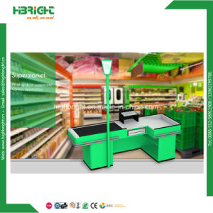 Supermarket Checkout Counters Desk with Conveyor Belt pictures & photos