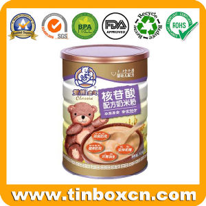 800g Milk Powder Metal Tin Can with PE Plastic Cover pictures & photos
