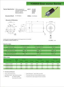 Long Life High Torque Brushless DC Motor with Gear Reduction Box pictures & photos