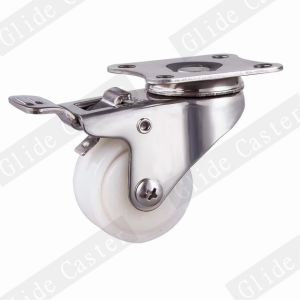 Stainless Steel Series Light Duty Nylon Fixed Caster Wheel pictures & photos