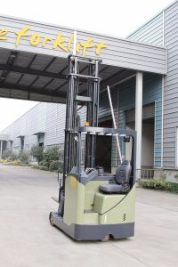 Sit-on Narrow Electric Reach Forklift Truck 1.8t pictures & photos