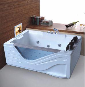 Ningjie Double Rectangle Sanitaryware Massage Bathtub (5210) pictures & photos