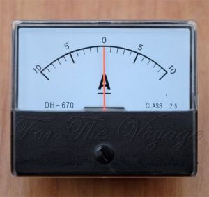 Ammeter -10A +10A DC AMP Panel Meter Analogue Meter