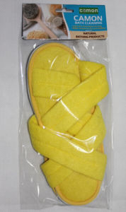Plastic Yellow Bathroom / Indoor Cotton Slippers pictures & photos
