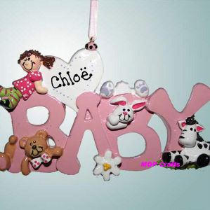 Personalized Christmas Ornament - Baby Words pictures & photos