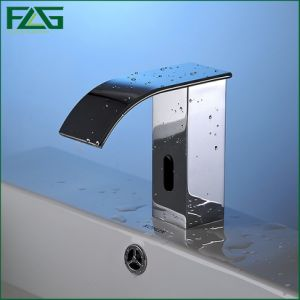 Flg Automatic Sensor Faucets Waterfall Chrome Bathroom Basin Sink Mixer pictures & photos