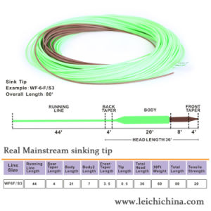 Real Mainstream Sinking Tip Fly Fishing Line pictures & photos