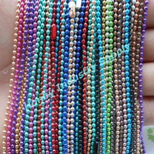 Pretty 3.2mm Solid Colored Ball Chain for Necklaces