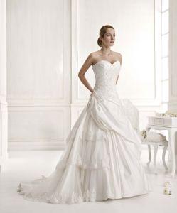 A-Line Taffeta Wedding Dress (JM-1052)