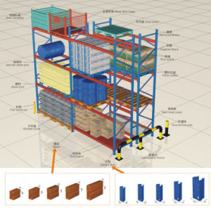 Warehouse Steel Conventional Pallet Racking with CE Approval pictures & photos