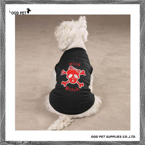 Rich Bitch Girlie Skull Embroidery Stylish Cool Dog Clothes (SPT6047) pictures & photos